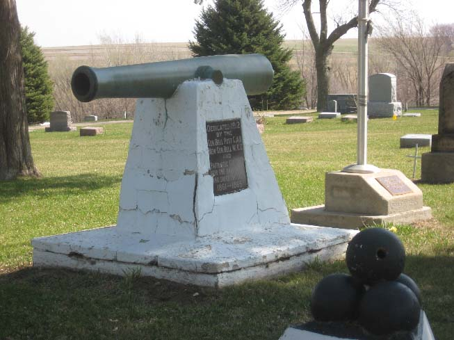 Cannon in Cemetery