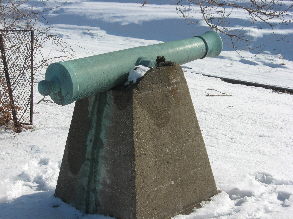 Cannons at Old Fort Madison Site