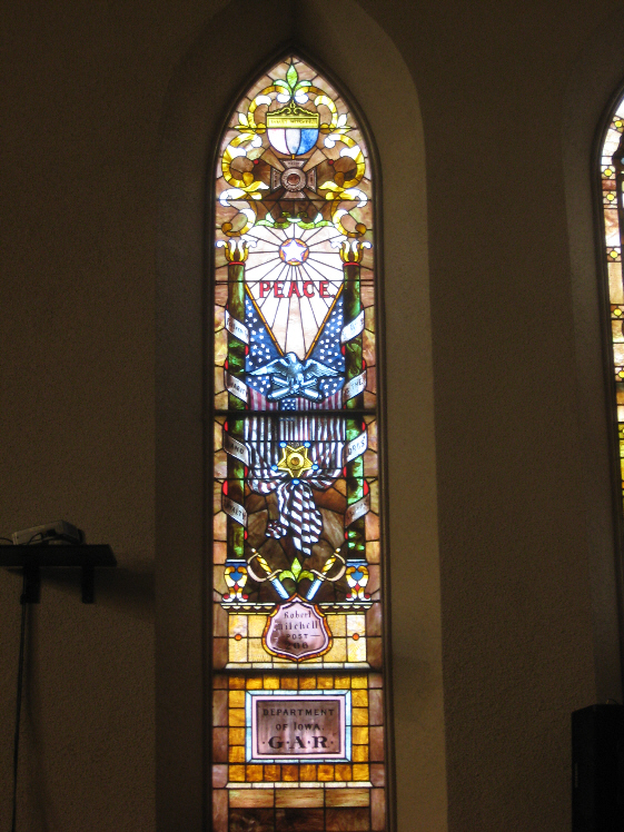 Civil War Stained Glass Window