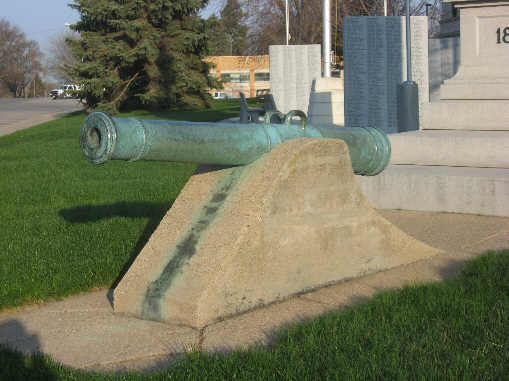 Civil War Soldier and Spanish Cannon