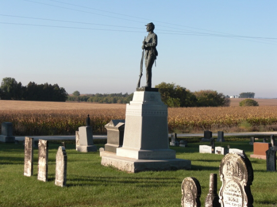Civil War Soldier at Dunham Grove Cemetery