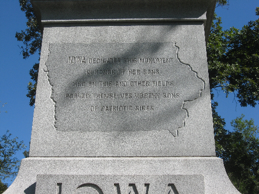 Iowa Monument at the Sherman Reservation