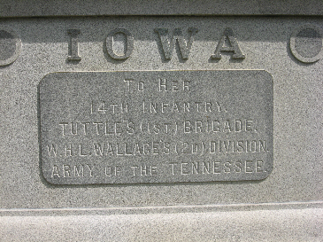 Iowa 14th Infantry Regiment Monument