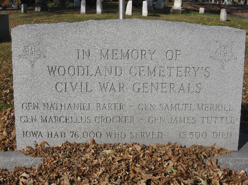 Civil War Generals Woodland Cemetery
