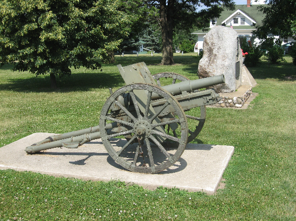 Civil War Plaque and Cannon