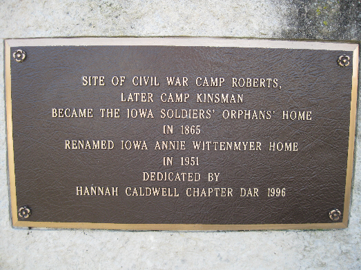 Annie Wittenmyer/Camp Roberts/Camp Kinsman Markers