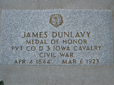 Medal of Honor Recipient James Dunlavy
