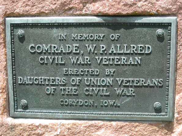 Plaque Honoring William P. Allred