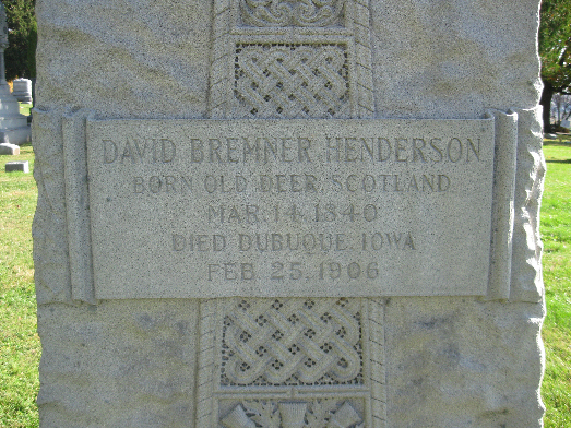 Colonel David Henderson Burial