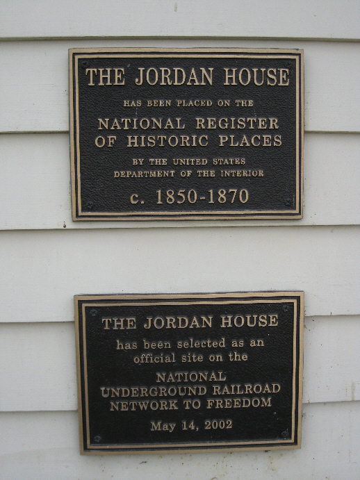 Jordan House - Underground Railroad