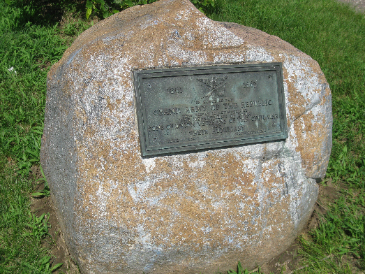 GAR Plaque in Grandview Park