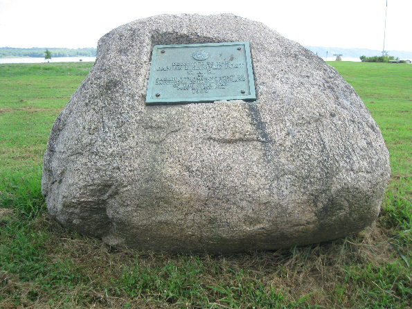 Boulder and Plaque