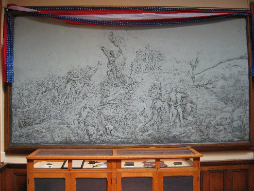 Bas-Relief Sculptures in Des Moines County Heritage Center
