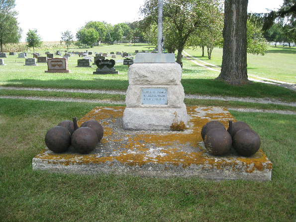 Civil War Plaque with Cannon Balls