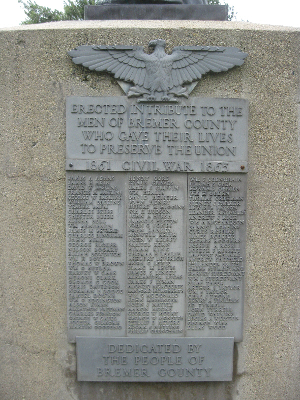 Civil War Plaque at Courthouse