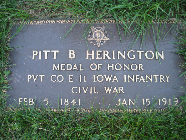 Medal of Honor Recipient Pvt. Pitt B. Herington