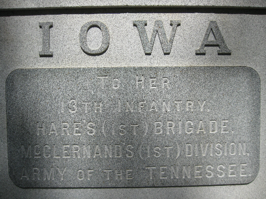 Iowa 13th Infantry Regiment Monument