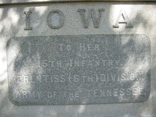 Iowa 15th Infantry Regiment Monument