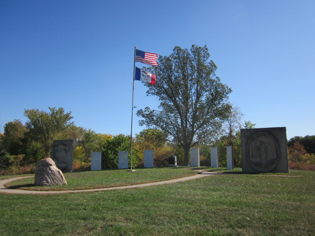 Memorial Hill in Scott County Park