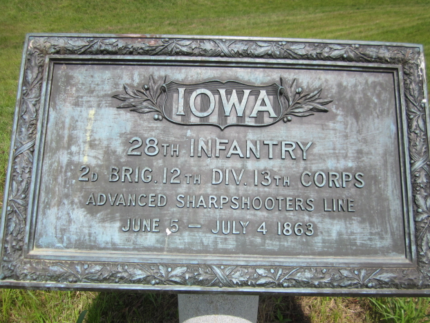 Monument for Iowa 24th and 28th Infantry Regiments