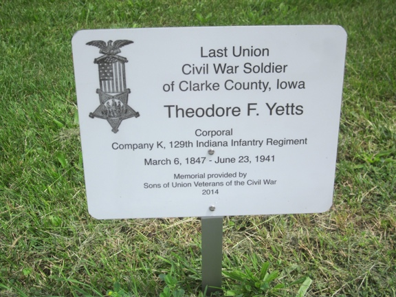 Last Soldier Theodore Yetts Memorial