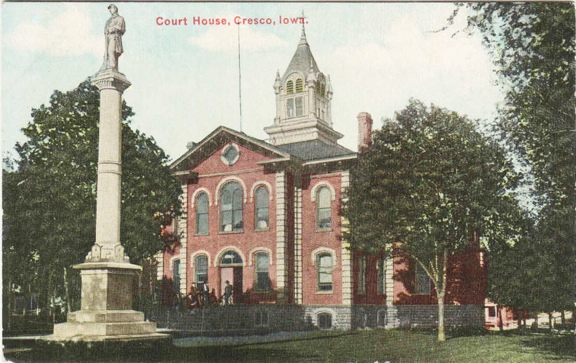 Civil War Soldier at Courthouse