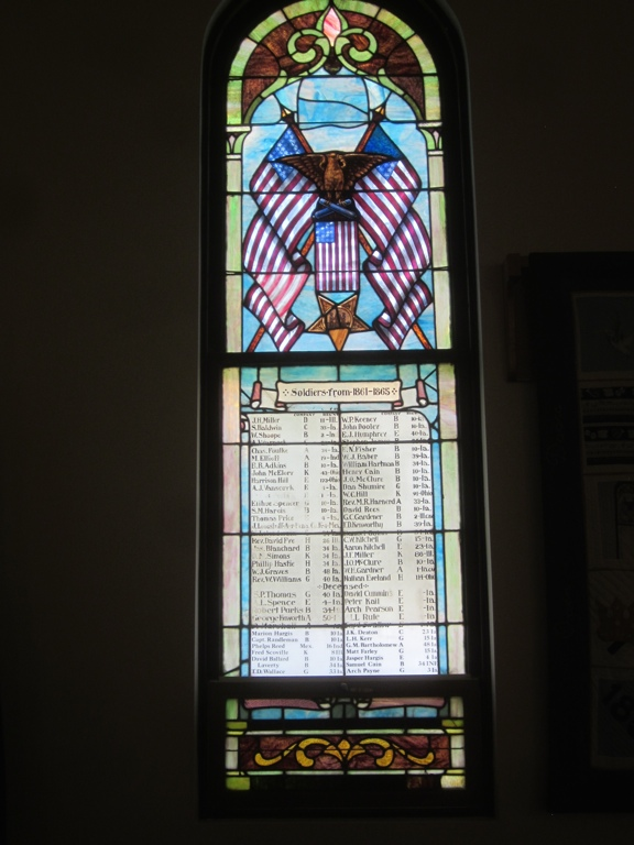 Stained Glass Window at Methodist Church