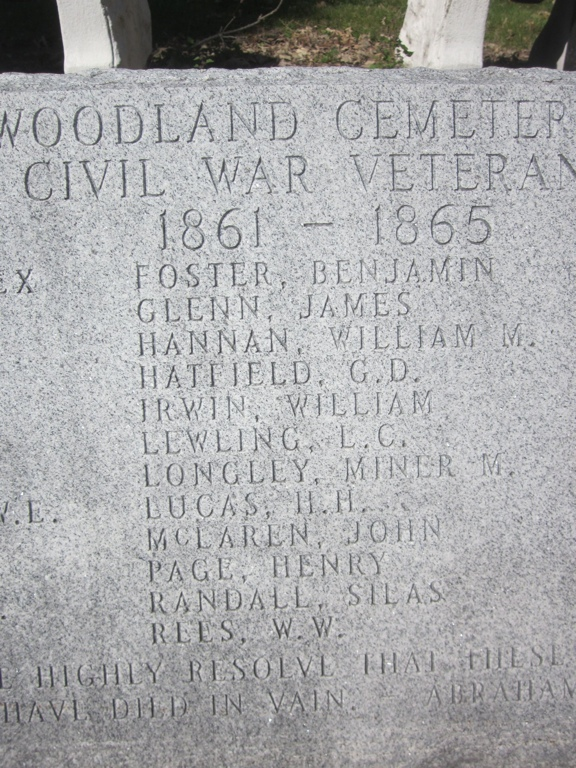 Civil War Veterans at Woodland Cemetery