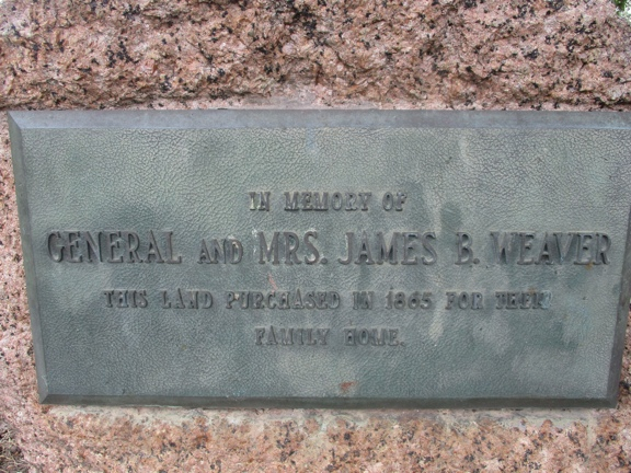 General James Weaver Home and Plaque