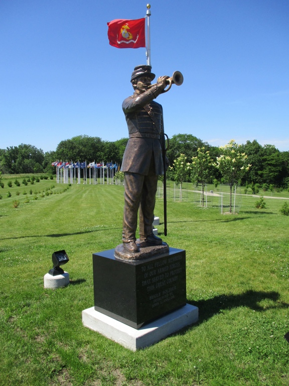 Welcome Home Soldier Monument - Civil War Bugler